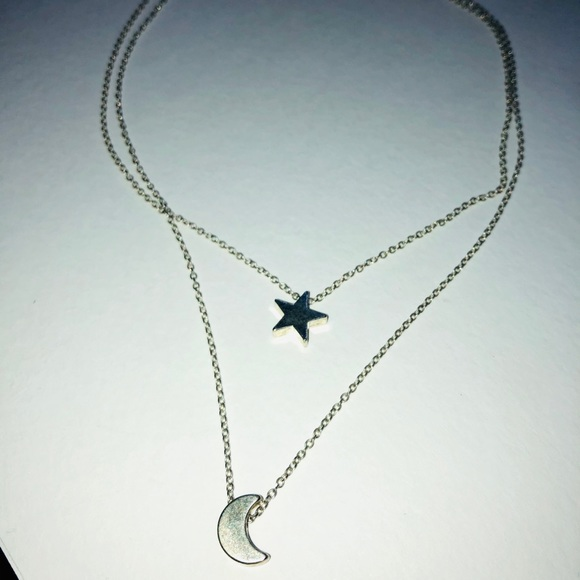 Jewelry - Star & Moon Layered Necklace